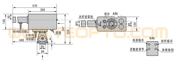 热金属检测器 hmd2系列|三易电气|红外光型热金属